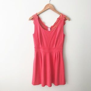 LILLY PULITZER Monique Coral Dress Sleeveless
